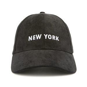 Forever 21 Black Corduroy New York NY Black Cap
